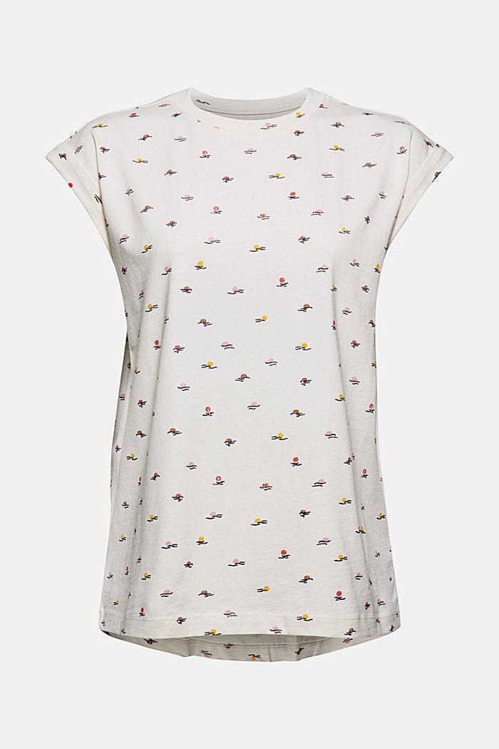 T-Shirt mit Print aus 100% Organic Cotton, OFF WHITE, detail image number 5