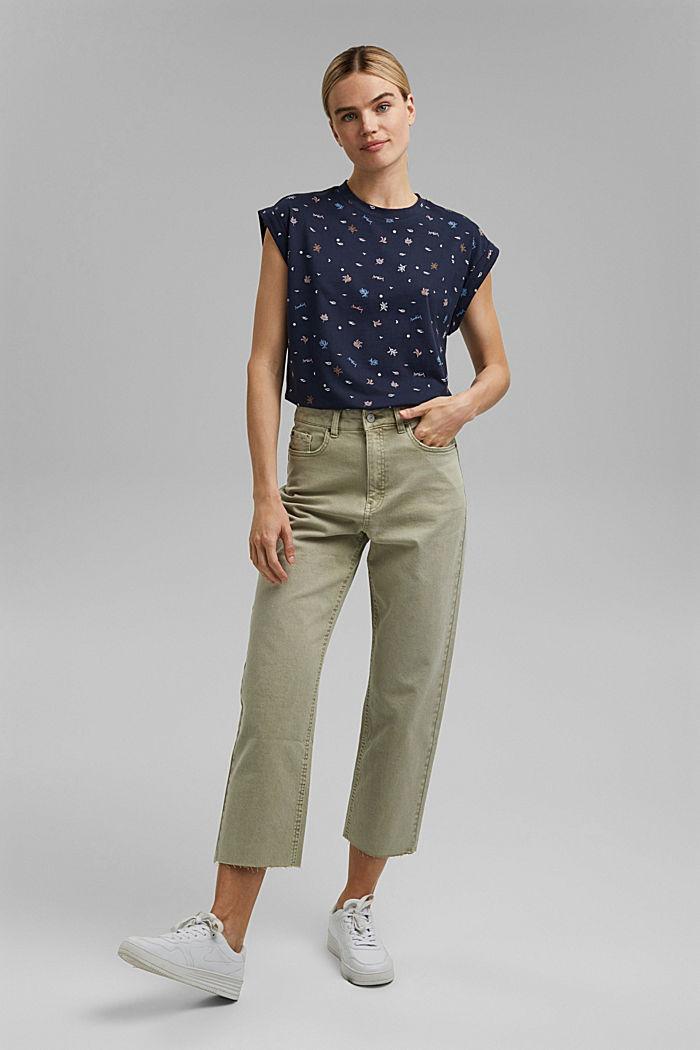 T-Shirt mit Print aus 100% Organic Cotton, NAVY, detail image number 1