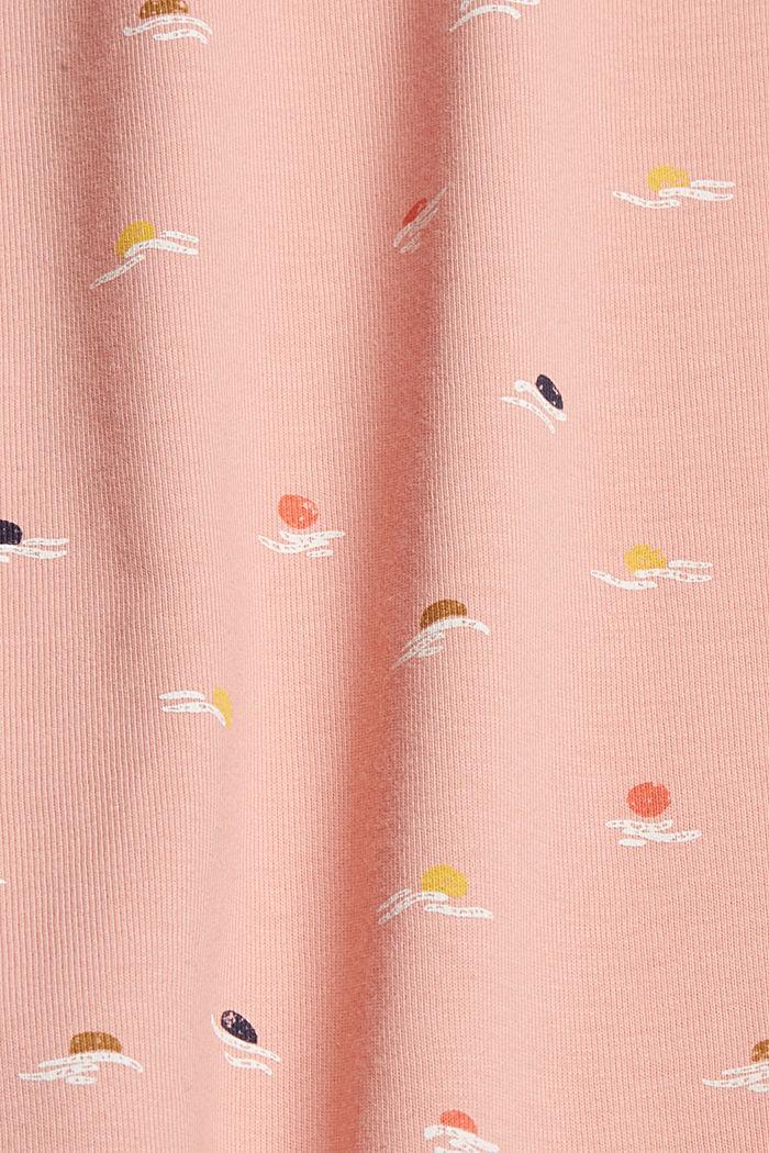 T-Shirt mit Print aus 100% Organic Cotton, OLD PINK, detail image number 4