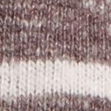 Maglia a righe a maniche lunghe con scollo a V, RUST BROWN, swatch