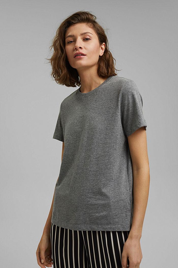 Basic-T-Shirt mit Organic Cotton, GUNMETAL, detail image number 0