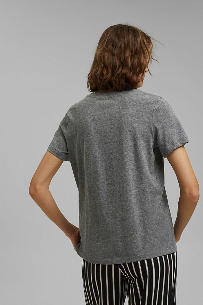 Basic-T-Shirt mit Organic Cotton, GUNMETAL, detail image number 3