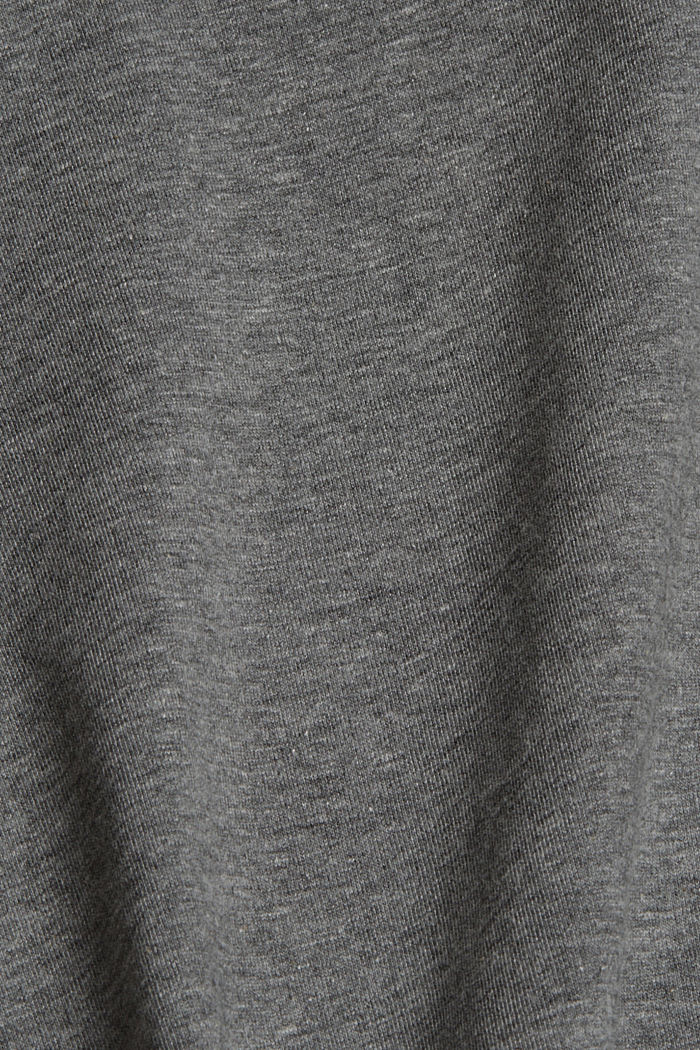 Basic-T-Shirt mit Organic Cotton, GUNMETAL, detail image number 4