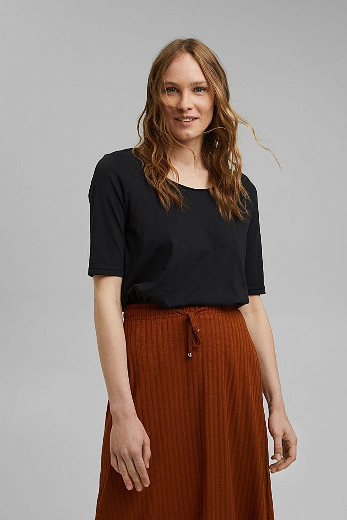 T-Shirt aus 100% Organic Cotton, BLACK, detail image number 0