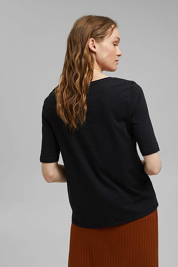 T-Shirt aus 100% Organic Cotton, BLACK, detail image number 3