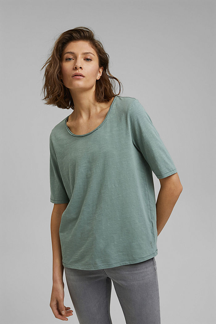 T-shirt made of 100% organic cotton, DUSTY GREEN, detail image number 0