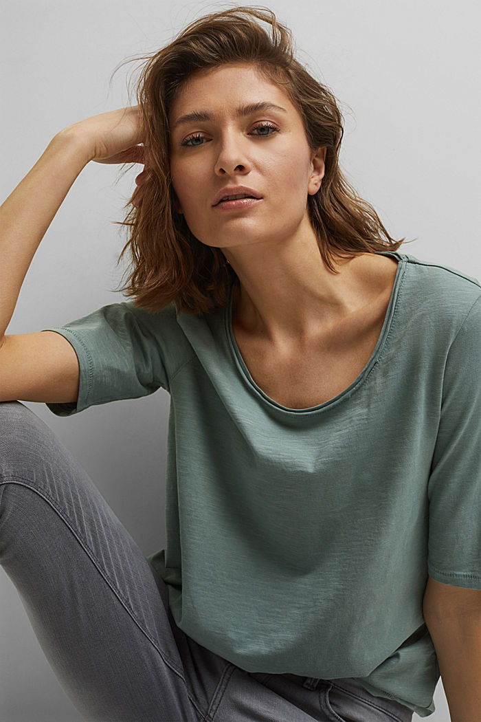 T-shirt made of 100% organic cotton, DUSTY GREEN, detail image number 5