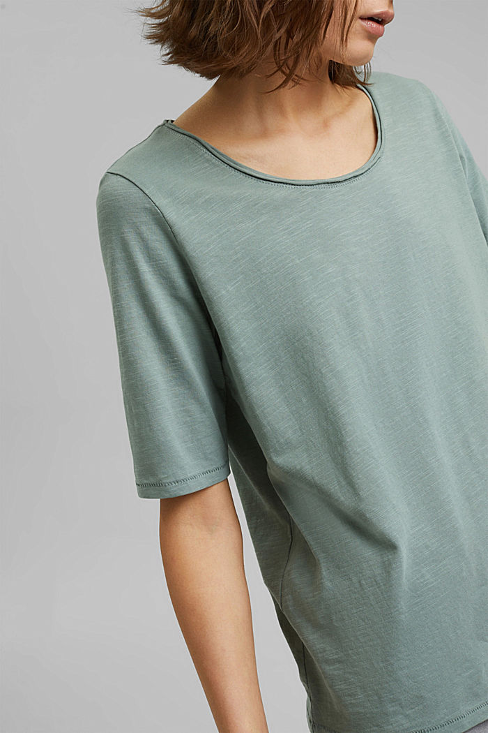T-shirt made of 100% organic cotton, DUSTY GREEN, detail image number 2