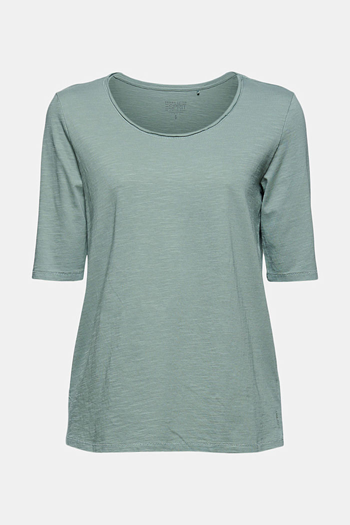 T-shirt made of 100% organic cotton, DUSTY GREEN, detail image number 6