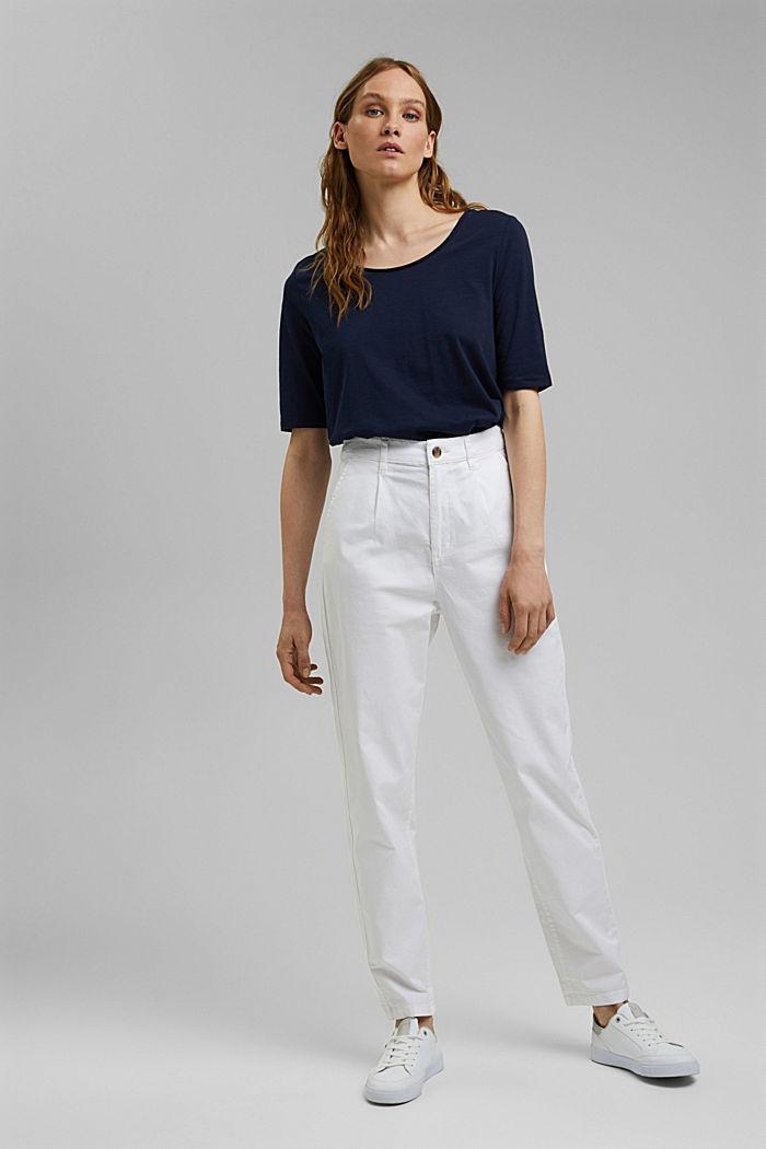 T-shirt made of 100% organic cotton, NAVY, detail image number 1