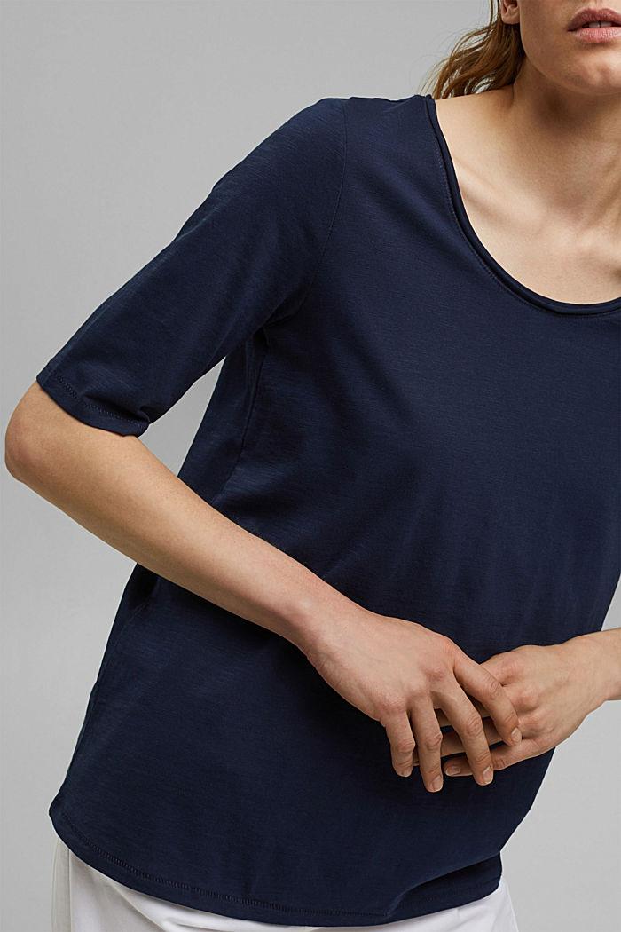 T-shirt made of 100% organic cotton, NAVY, detail image number 2
