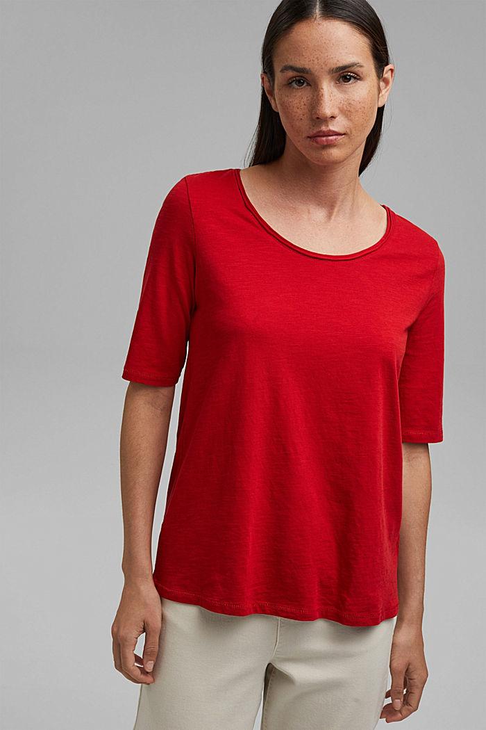 T-Shirt aus 100% Organic Cotton, RED, detail image number 0