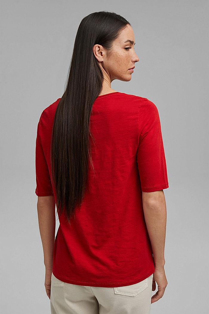 T-Shirt aus 100% Organic Cotton, RED, detail image number 3