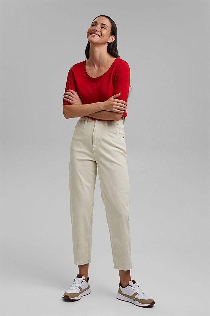 T-Shirt aus 100% Organic Cotton, RED, detail image number 1