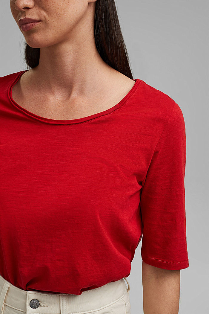 T-Shirt aus 100% Organic Cotton, RED, detail image number 2