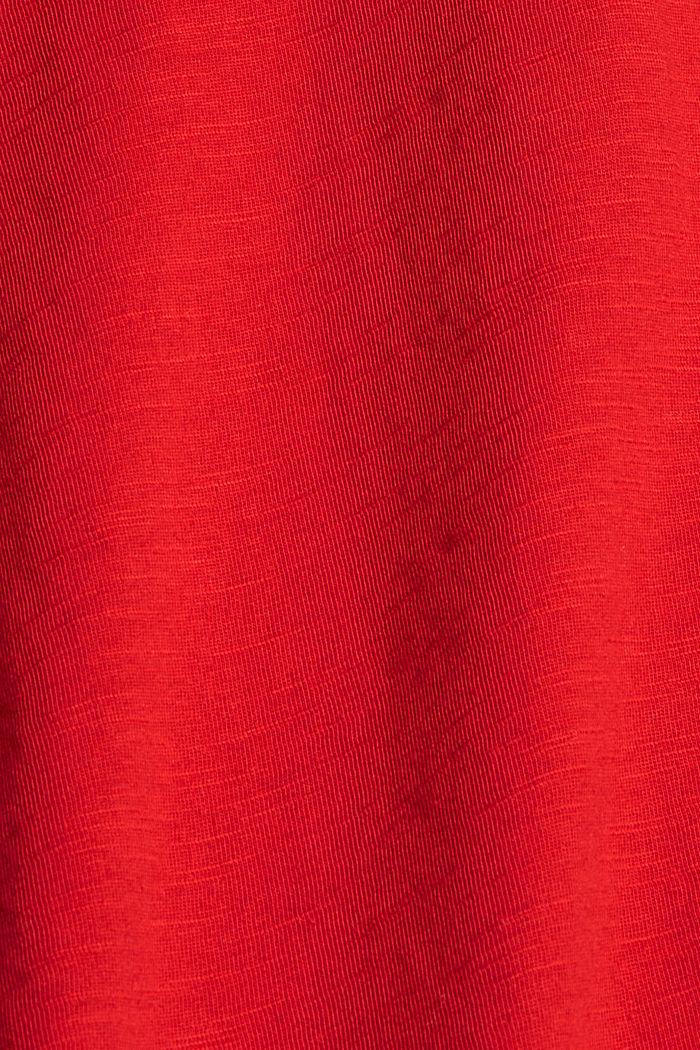 T-Shirt aus 100% Organic Cotton, RED, detail image number 4