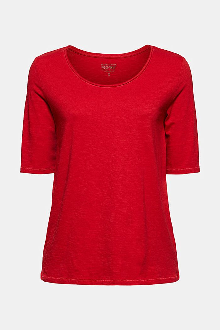 T-Shirt aus 100% Organic Cotton, RED, detail image number 5