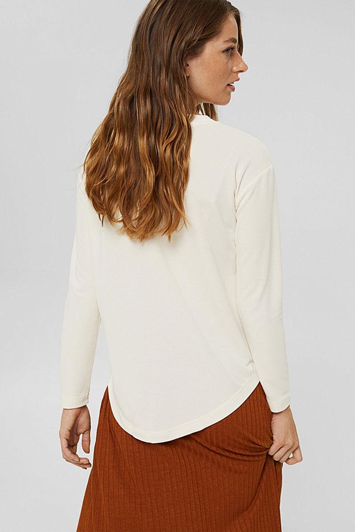 T-shirt à manches longues à effet brillant mat, OFF WHITE, detail image number 3