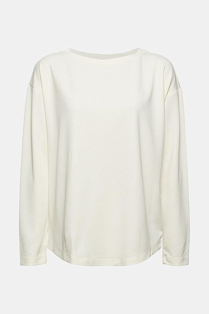 T-shirt à manches longues à effet brillant mat, OFF WHITE, detail image number 5