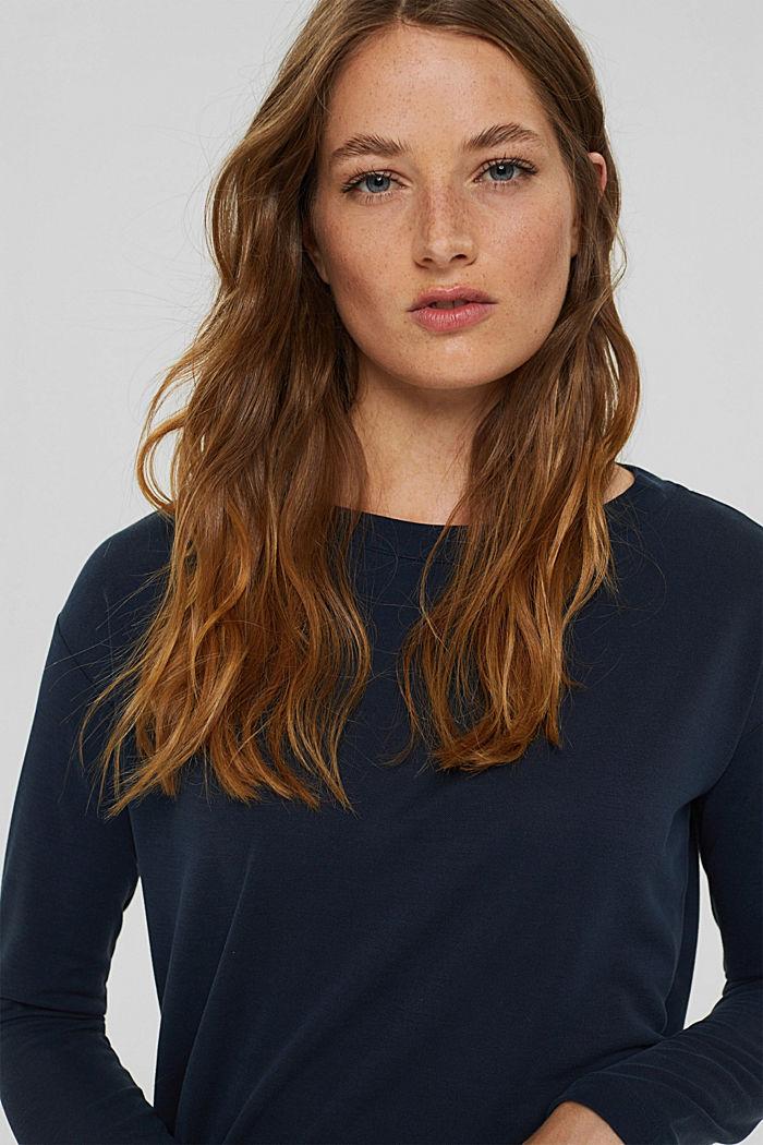 Koszulka z długim rękawem z matowym połyskiem