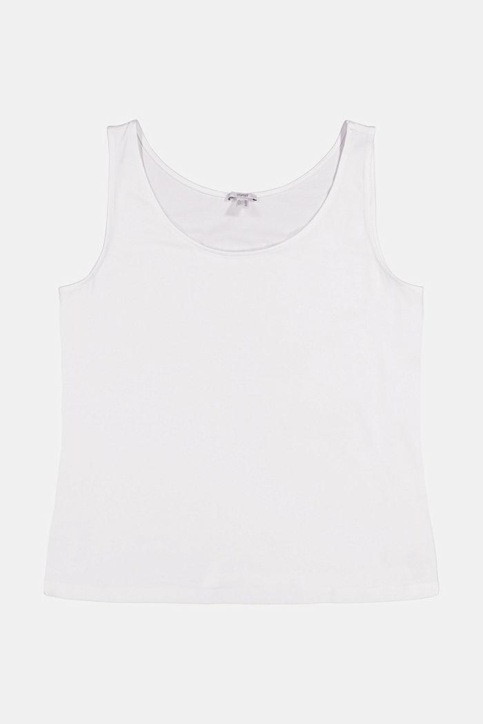 Débardeur en coton biologique/stretch, WHITE, detail image number 5