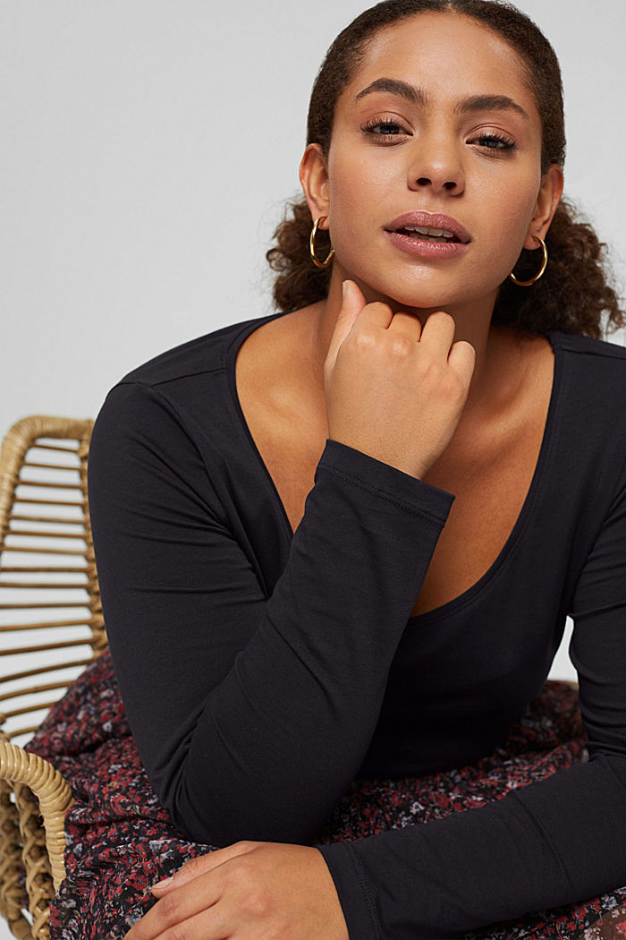 CURVY long sleeve top made of organic cotton