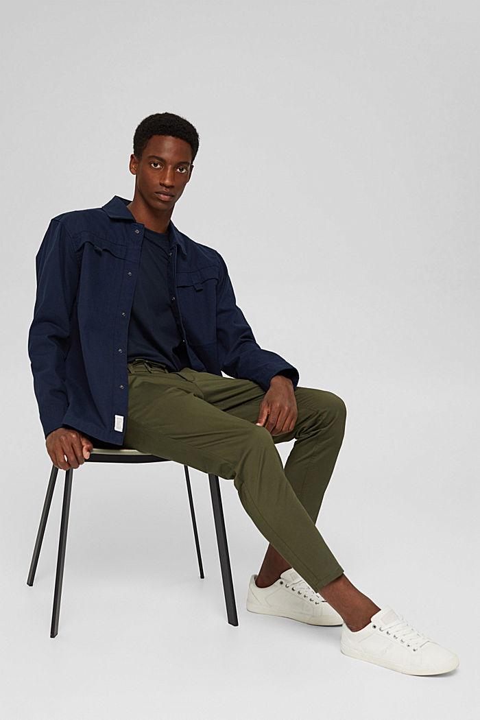 Zkrácené kalhoty s bio bavlnou a vlákny COOLMAX®