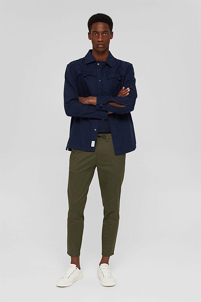 Cropped Hose mit Organic Cotton und COOLMAX®, DARK KHAKI, detail image number 1