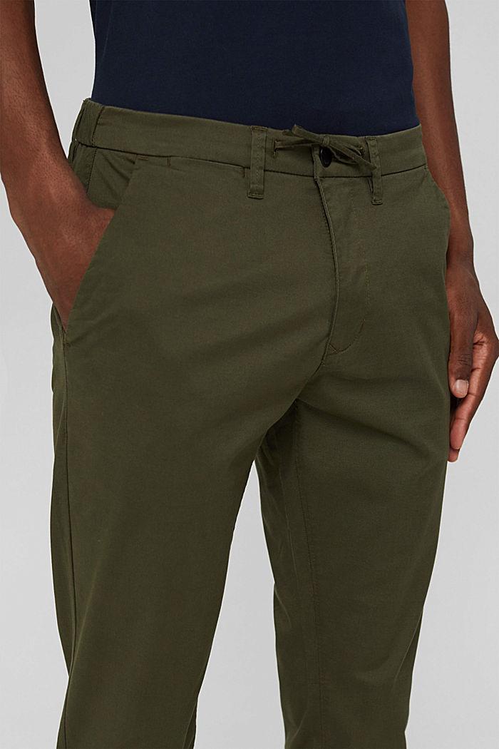 Cropped Hose mit Organic Cotton und COOLMAX®, DARK KHAKI, detail image number 2