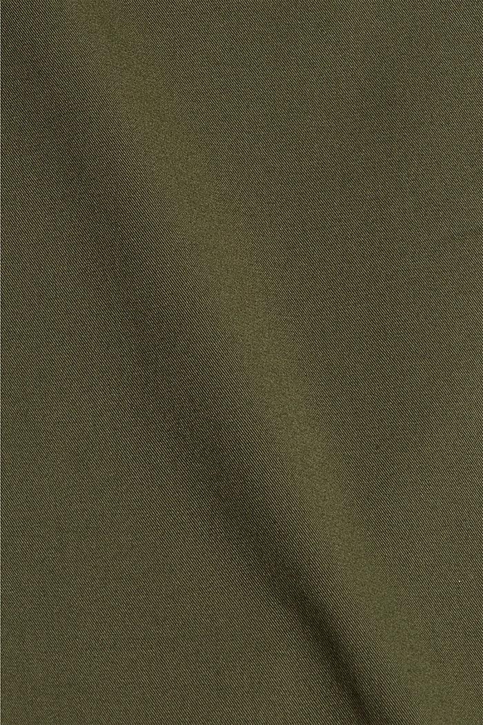 Cropped Hose mit Organic Cotton und COOLMAX®, DARK KHAKI, detail image number 4