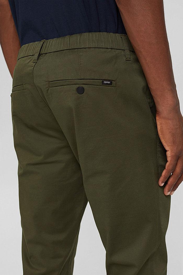 Cropped Hose mit Organic Cotton und COOLMAX®, DARK KHAKI, detail image number 5