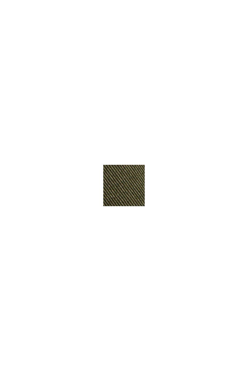 Zkrácené kalhoty s bio bavlnou a vlákny COOLMAX®, DARK KHAKI, swatch