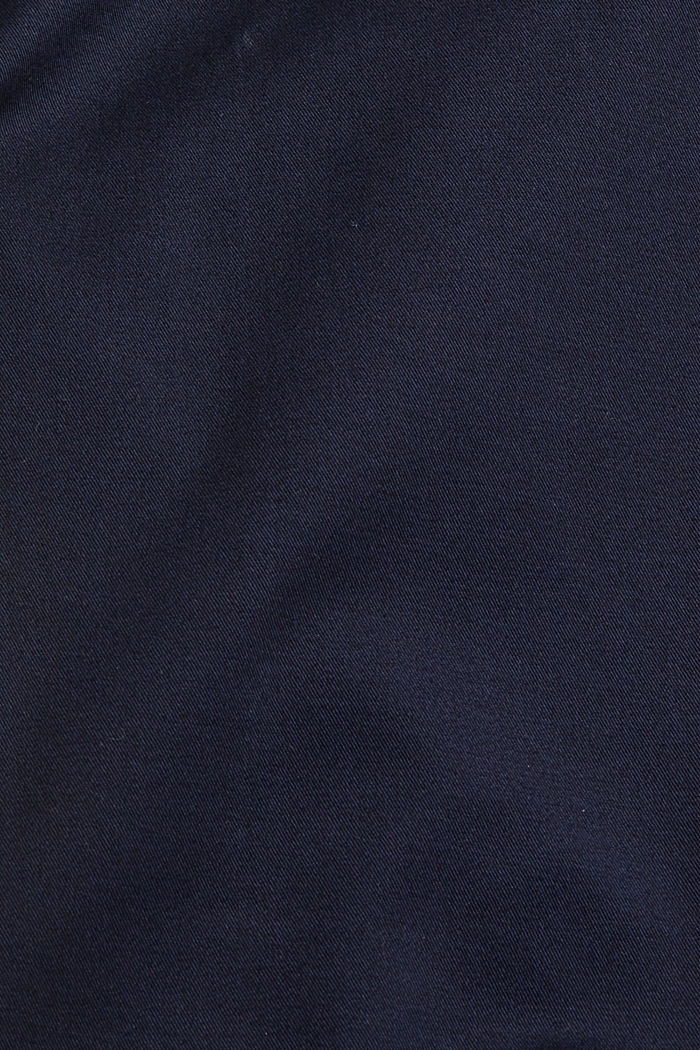 Cropped trousers with organic cotton and COOLMAX®, DARK BLUE, detail image number 4