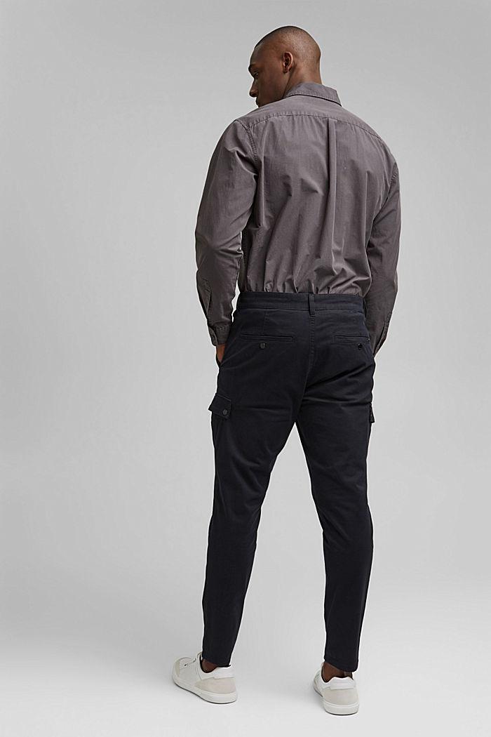 Cargo-Hose aus Bio-Baumwolle/Stretch, BLACK, detail image number 3