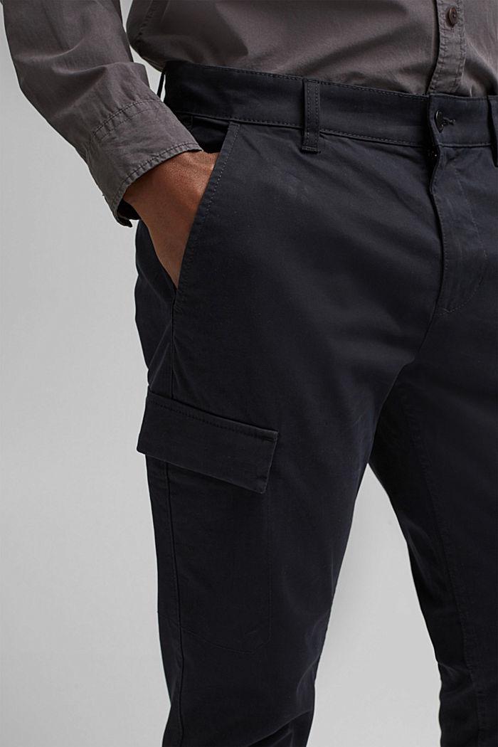 Cargo-Hose aus Bio-Baumwolle/Stretch, BLACK, detail image number 2