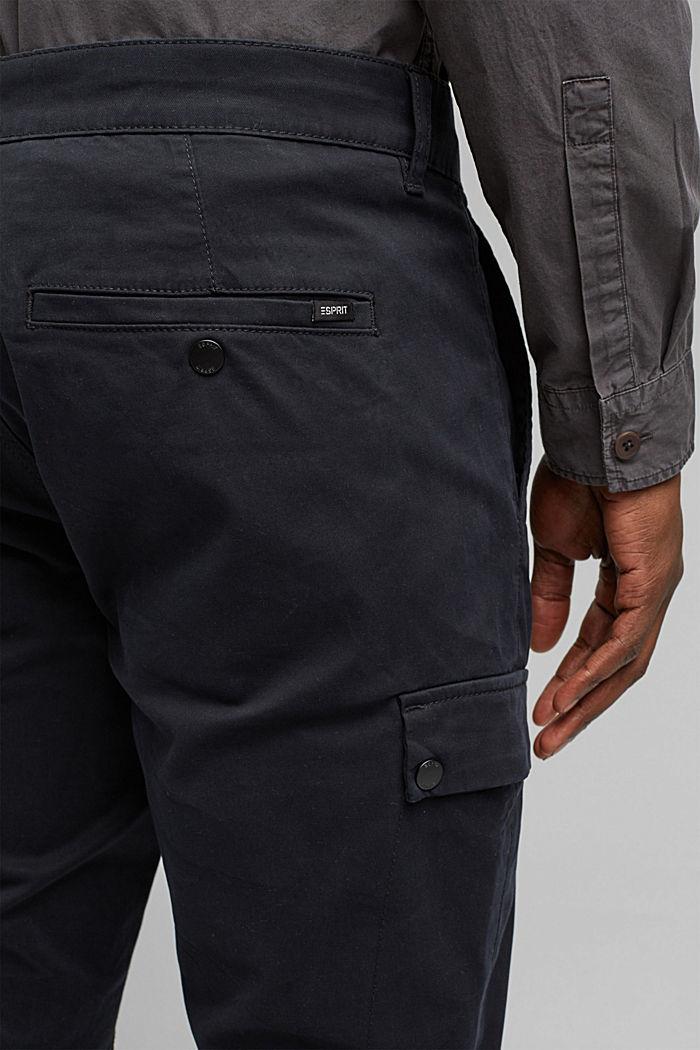 Cargo-Hose aus Bio-Baumwolle/Stretch, BLACK, detail image number 5