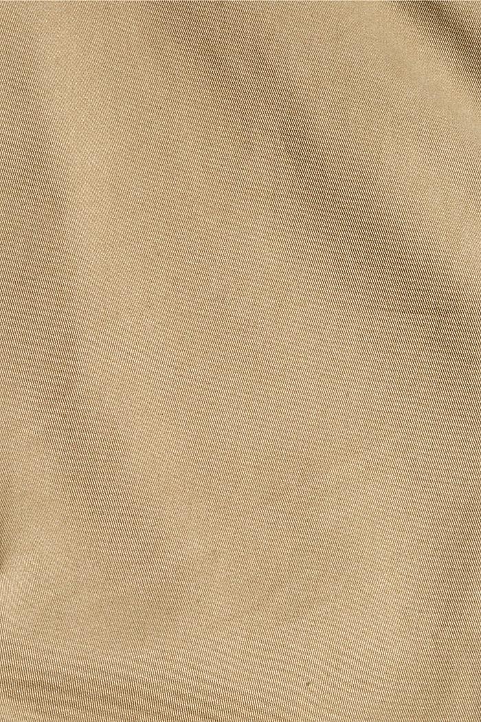 Pantalon cargo en coton bio stretch, BEIGE, detail image number 4