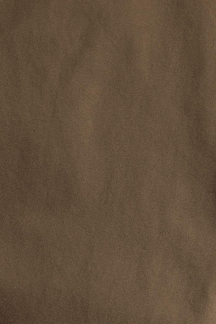 Chino aus Bio-Baumwolle mit Schlüsselring, DARK KHAKI, detail image number 4