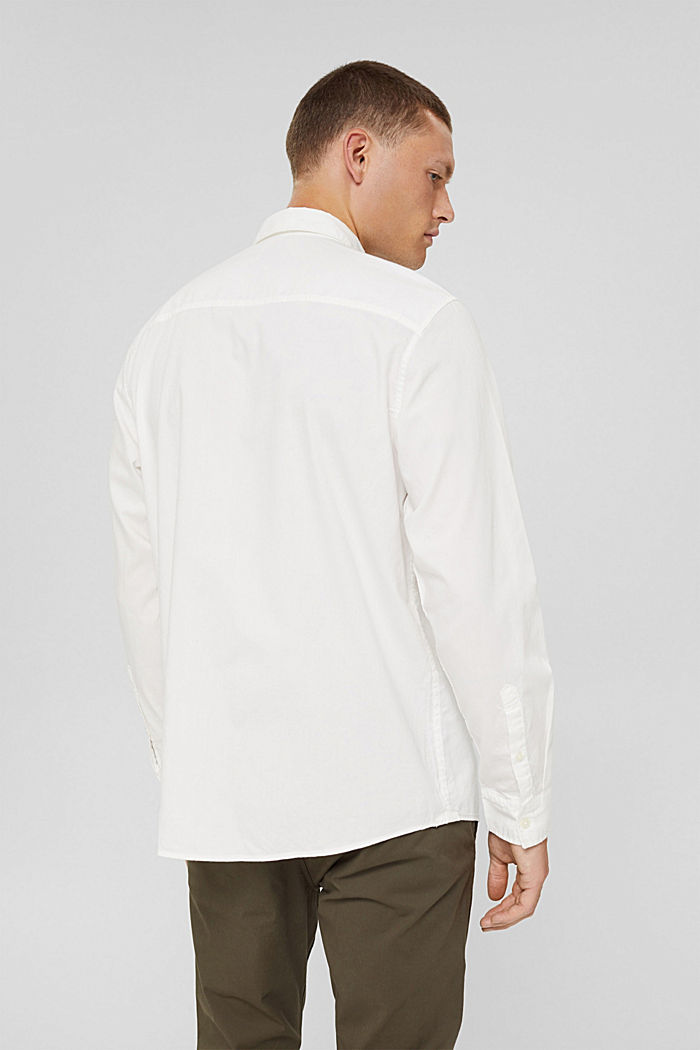 Button-Down-Hemd aus 100% Baumwolle, OFF WHITE, detail image number 3