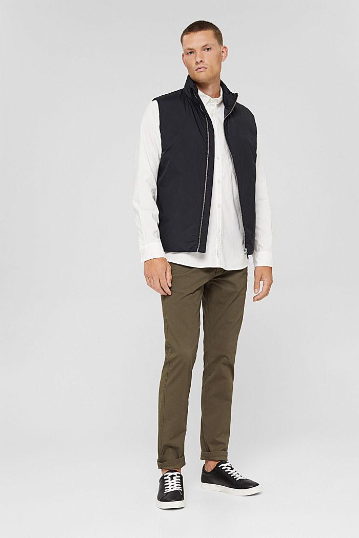 Button-Down-Hemd aus 100% Baumwolle, OFF WHITE, detail image number 1