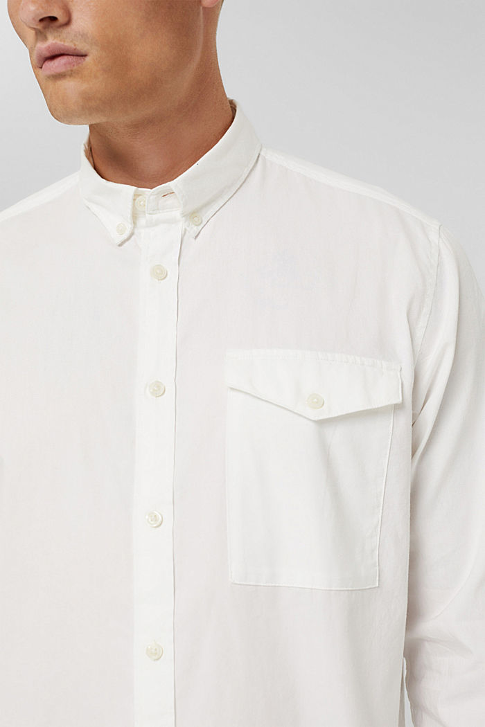 Button-Down-Hemd aus 100% Baumwolle, OFF WHITE, detail image number 2