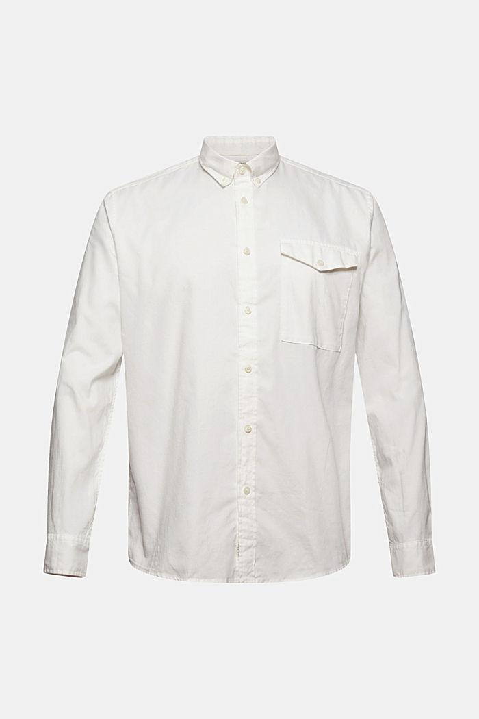 Button-Down-Hemd aus 100% Baumwolle, OFF WHITE, detail image number 6