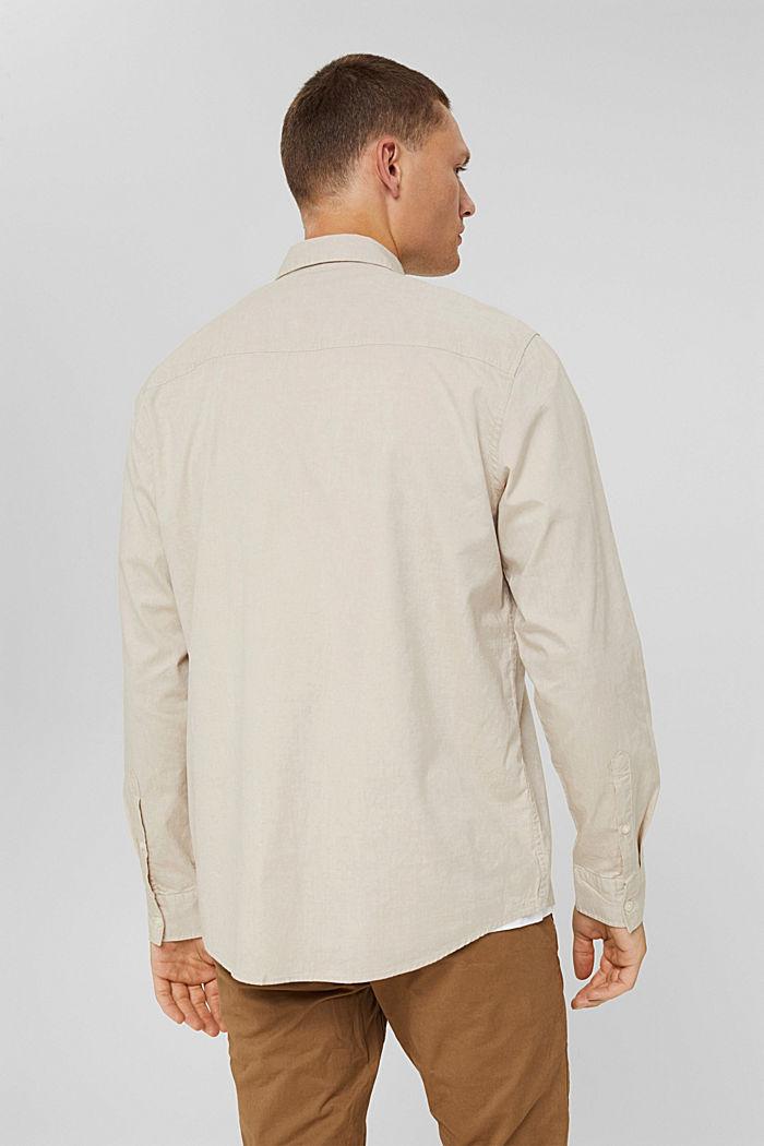 Button-Down-Hemd aus 100% Baumwolle, BEIGE, detail image number 3