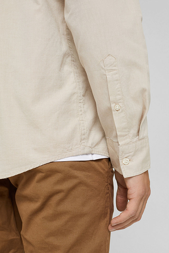 Button-Down-Hemd aus 100% Baumwolle, BEIGE, detail image number 5