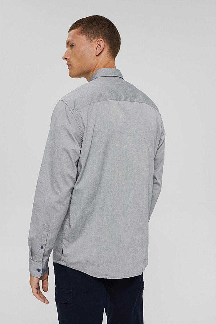 Košile s propínacím límečkem, 100% bavlna, NAVY, detail image number 3