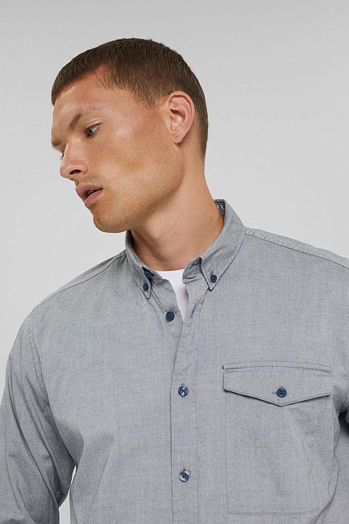 Košile s propínacím límečkem, 100% bavlna, NAVY, detail image number 6