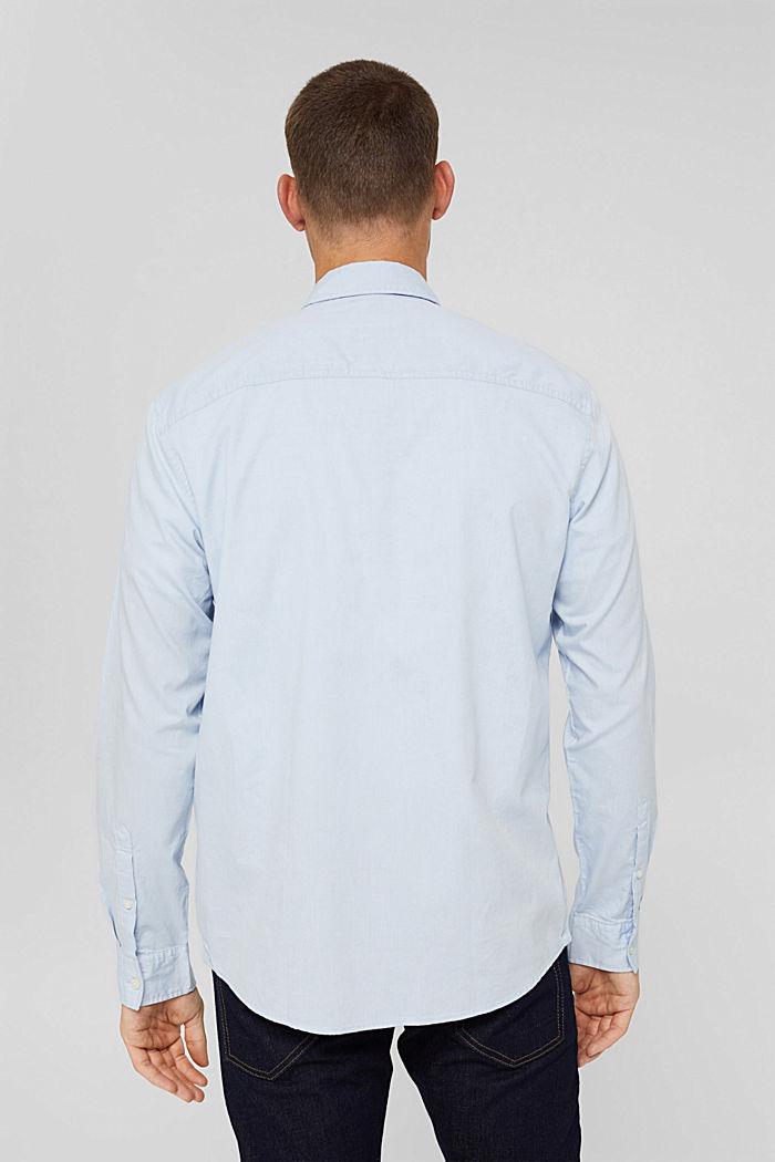 Button-Down-Hemd aus 100% Baumwolle, LIGHT BLUE, detail image number 3