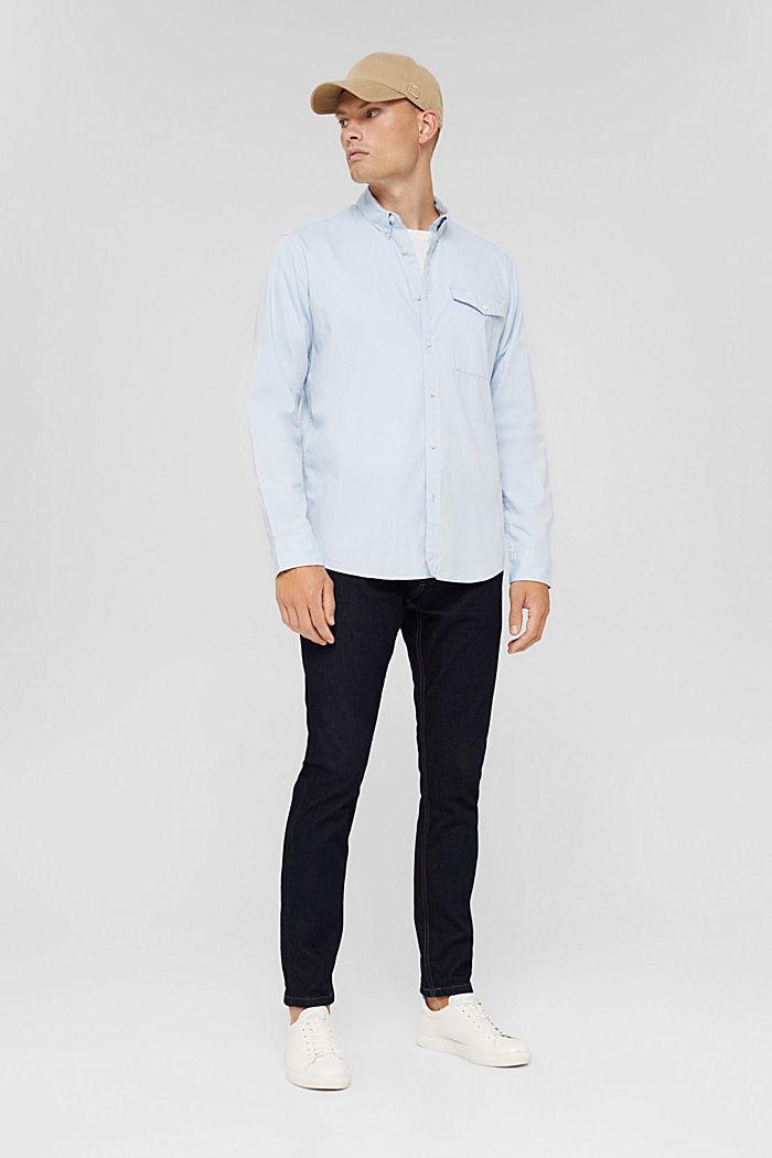 Button-Down-Hemd aus 100% Baumwolle, LIGHT BLUE, detail image number 1