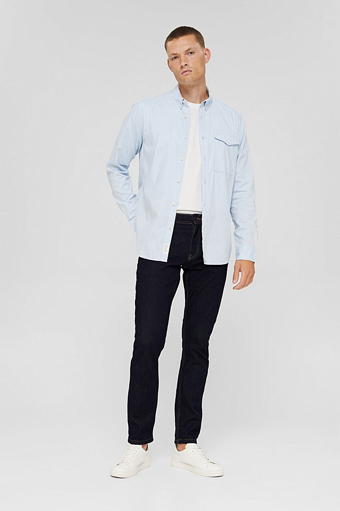 Button-Down-Hemd aus 100% Baumwolle, LIGHT BLUE, detail image number 6