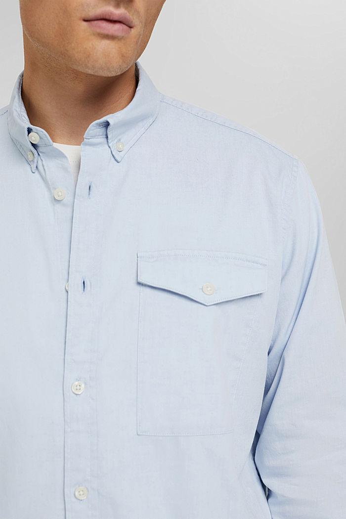 Button-Down-Hemd aus 100% Baumwolle, LIGHT BLUE, detail image number 2